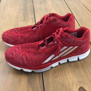 NEW Men's Adidas red tennis shoes sneakers 13